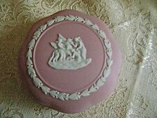 WEDGWOOD PINK JASPERWARE LIDDED TRINKET BOX - MINT!