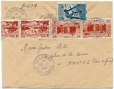 IVORY COAST COLOURED CANCELS TOULEPLEU in BLUE 1960