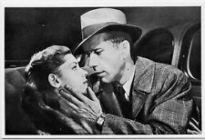 Bogart & Bacall in a love scene The Big Sleep 1946 Howard Hawks film Postcard