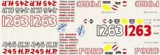 #22 Fireball S.C. Ford Dealers 1956-58 Nascar Decals Ford Racing Team #664