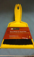 TENT Whisk & Dust Pan, Sturdy Thermoplastic Construction, Polypropylene Bristles