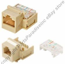 Lot50 Keystone RJ11/RJ12 tooless Jack Phone/Telephone for 6/4wire 6P6C/4C{IVORY