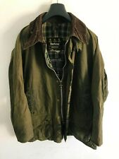 Mens Barbour Beaufort wax jacket Dark Green coat 46 in size Large / Extra Large