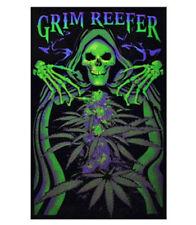 GRIM REEFER - WEED BLACKLIGHT POSTER - 24X36 POT MARIJUANA REAPER SKULL 6022