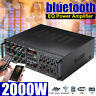 2000W 110V 325BT bluetooth Power Amplifier 2 Ch AMP Home Stereo EQ FM SD USB US