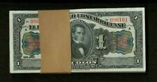 COSTA RICA  1917  1 COLON  BANKNOTES CRISP UNCIRCULATED, GROUP LOT OF (100)