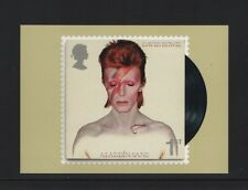 DAVID BOWIE OFFICAL ROYAL MAIL POSTCARD featuring STAMP Aladdin Sane, 1973