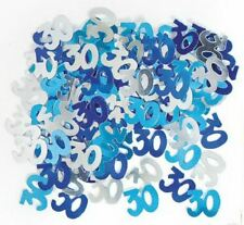 4 x 30th Blue Happy Birthday Party Glitz Table Confetti Sprinkles Decorations
