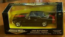 Baldwin Motion 1969 Chevy Nova SS-427 - Ertl American Muscle - 1:18 Scale - NEW