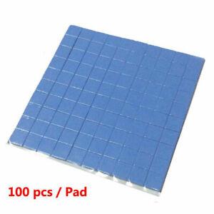 Thermal Conductive Silicone 100pcs 10x10x0.5、1、2mm GPU CPU Heatsink Cooling Pad