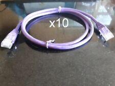 Lot of 10 pieces - 10 x Cat5e Ethernet Cable Patch Lead 1 Metre 1M NEW