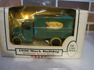 1989 ERTL HEILIG MYERS 1926 MACK BULLDOG DELIVERY TRUCK BANK 1:38 SCALE DIE CAST