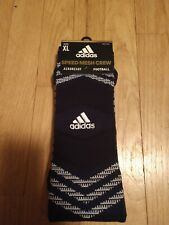 Brand New! Adidas Speed Mesh Crew, Football, Adult Xl, Navy, Aeroready Socks!
