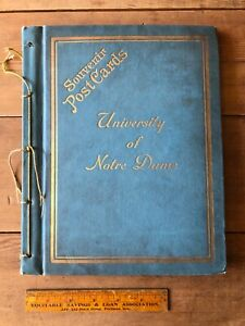 Old Postcard Album 1907-1915 Notre Dame University Football Rowing NICE Germany