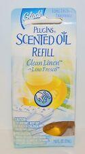 1 NEW GLADE PLUGINS CLEAN LINEN SCENTED OIL REFILL PLUG IN RARE HTF