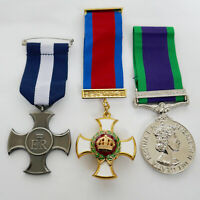 British Military Medals DSC , DSO ,  GSM Northern Ireland  WW1 medal SET Repro