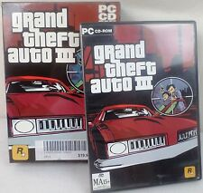 Complete Grand Theft Auto GTA 3 - 1 Disc + Manual + Map - PC CD Game for Windows