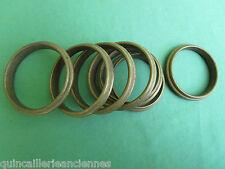 7 anneaux laiton massif ancien tringle rideau diamètre intérieur 5,8 à 6,2 cm