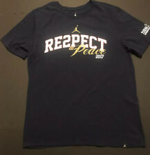 Mens Air Jordan Derek Jeter RE2PECT Respect  & Peace Tee Shirt Navy XL