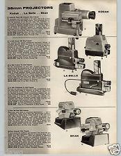 1957 PAPER AD Camera Polaroid Pathfinder Projector Kodak Belle Skan Highlander