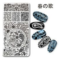 1Pc Nail Art Stamp Plate Template Paisley Bandanna Design DIY Harunouta L020