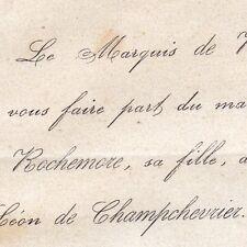 Marie De Rochemore 1866 Léon La Rue De Champchevrier