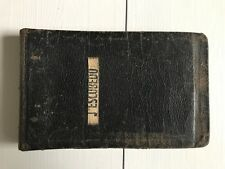 Vintage Original Named Leather US Marine Corps Rifle Target Score Sheet Book 8x5