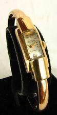 FAVRE-LEUBA WOMAN'S WATCH *GENEVE* GOLD HINGED BANGLE c.1950'S