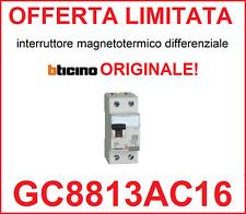 Interruttore magnetotermico differenziale salvavita BTICINO ORIGINALE GC8813AC16