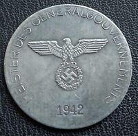 WW2 GERMAN COMMEMORATIVE COIN GG 1942 EXONUMIA