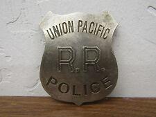 Copper/Silver Law Star Badge Union Pacific Railroad Police Vtg-look Patina