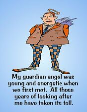 METAL FRIDGE MAGNET Guardian Angel Years Took Toll  Friend Family Humor Funny