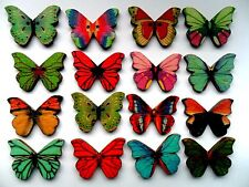 20 pcs Large Butterfly Patterned Wood Scrapbooking // Sewing Buttons  28mm