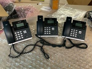3 x Yealink SIP-T41S 10 Button Corded 6 Line PoE IP Phone LOT of 3