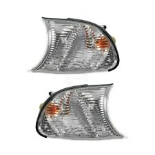 Clear Corner Parking Marker Light Lens Pair Set for 02-03 325CI 330CI 04-06 M3