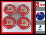 HSV Wheel Centre Caps Set of 4 RED Holden 60mm Commodore VY VZ VE VF GTS R8