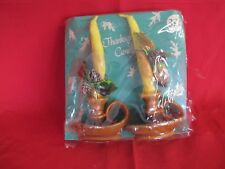 Vtg Christmas Candle Thanksgiving Holiday Boxed Set Gurley Kitschy Table Mantle