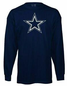 New Dallas Cowboys NFL Football Logo T-Shirt Navy Youth Boys Medium Long Sleeve
