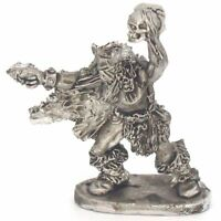 Barbarian Shaman with skull Warhammer Fantasy Armies 28mm Unpainted Wargames