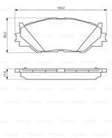 Bremsbelagsatz, Scheibenbremse für Bremsanlage Vorderachse BOSCH 0 986 494 316