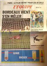 L'Equipe Journal 3/2/2003; J.O. 2012/ Bordeaux/ Les Handballeurs en Bronze
