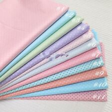 50CM*50CM Polka Dot 100%cotton fabric Quilting Clothes Bedding Sewing 01