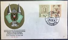 Germany FDC cover 1959 Interposta Exhibition Hamburg Sc# B366-67, cachet