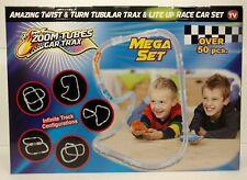 Zoom Tubes Car Trax Lite Up Mega Set as Seen On Tv Twist Turn Racing 50+ pcs.