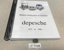 EE MEA depesche From 1973 to 1986 Marklin Enthusiasts of America Photo Copy