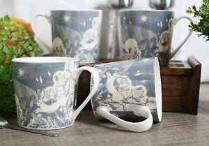Set of 4 English Tableware Artisan Grey Hare Fine China Mugs