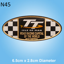 Isle of Man TT Races Road Racing Capital of the World Gel Badge Sticker