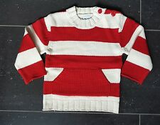 MAXX  Pullover geringelt  2 Jahren 86 rot weiß Neu !