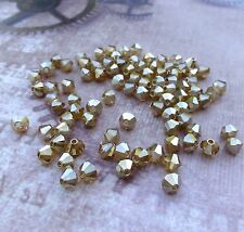 M.C. Bicone Beads 4mm Crystal Golden Flare 144 Crystal Beads