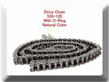 O-Ring Natural Color 530-120 Link Chain Motorcycle fit Harley Sportster Dyna